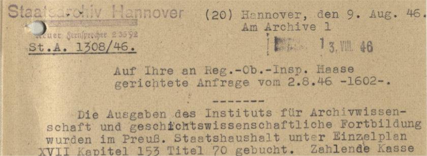 Wie die Archivschule nach Marburg kam III