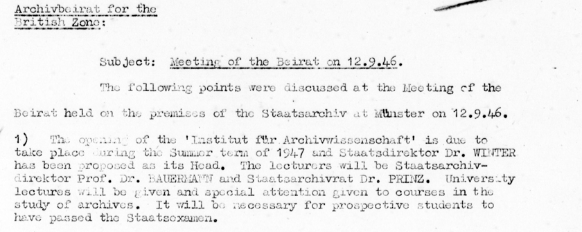 Wie die Archivschule nach Marburg kam VI