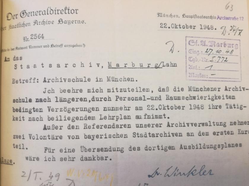 Wie die Archivschule nach Marburg kam XI