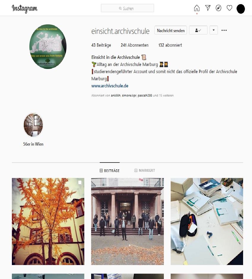 Die Archivschule auf Instagram – quo vadis?